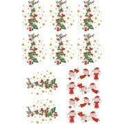 Decalque para Porcelana - Árvores e Anjos Natal