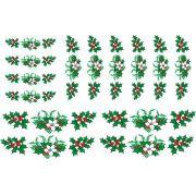 Decalque para Porcelana - Azevinhos de Natal