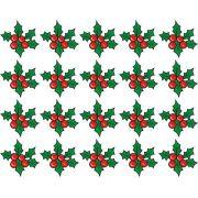Decalque para Porcelana - Azevinhos de Natal Complementos 4cm