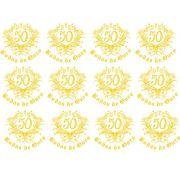 Decalque para Porcelana - Bodas de Ouro Ref.5