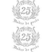 Decalque para Porcelana -Bodas de Prata Ref.1