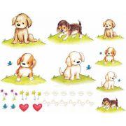 Decalque para Porcelana - Cachorrinhos Fofinhos
