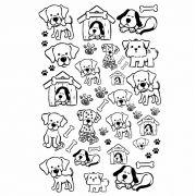 Decalque para Porcelana - Cachorros P e B