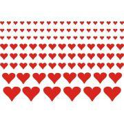 Decalque para Porcelana - Coração Vermelho