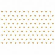 Decalque para Porcelana - Coração Mini Ouro