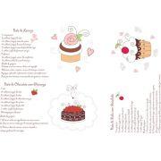 Decalque para Porcelana - Cup Cake 1
