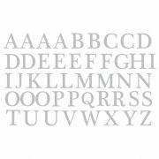 Decalque para Porcelana - Alfabeto 2cm - PRATA