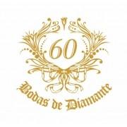 Decalque para Porcelana - Bodas de Diamante 7cm