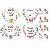 Decalque para Porcelana -  Café/Chocolate/Chá