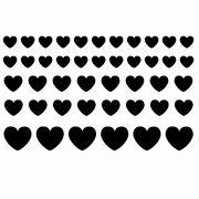 Decalque para Porcelana - Corações Coloridos