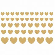 Decalque para Porcelana - Corações em Ouro