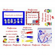 Decalque para Porcelana -Dia dos Professores Kids