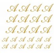 Decalque para Porcelana -Iniciais Ouro