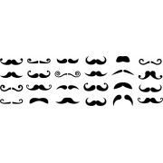 Decalque para Porcelana - Moustaches
