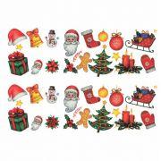 Decalque para Porcelana - Natal Elementos Mini