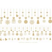 Decalque para Porcelana - Natal Pingentes OURO