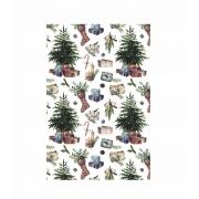 Decalque para Porcelana - Natal Tapete Árvore e Meia