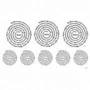 Decalque para Porcelana - Pai Nosso Espiral