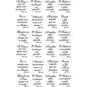 Decalque para Porcelana -Salmos 4,5cm