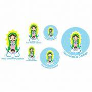 Decalque para Porcelana - Santinhos Nossa Senhora de Guadalupe
