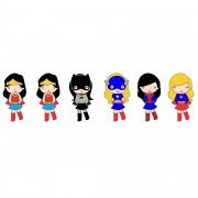 Decalque para Porcelana - Super Heróis Kids Meninas