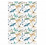Decalque para Porcelana - Tapete Libélulas Colors