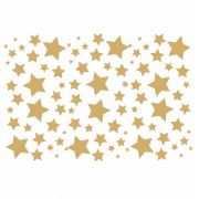 Decalque para Porcelana -Estrelas - em Ouro