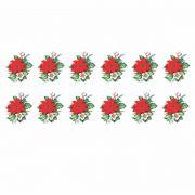 Decalque para Porcelana - Flor de Natal 3,5cm