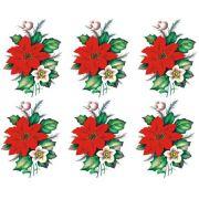 Decalque para Porcelana - Flor de Natal 8cm