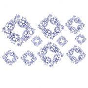 Decalque para Porcelana - Floral Blue