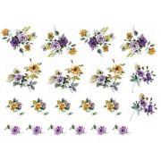 Decalque para Porcelana - Flores Outono Complemento