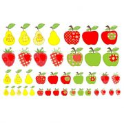Decalque para Porcelana -Frutas Estilizadas