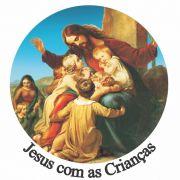 Decalque para Porcelana - Jesus com Crianças