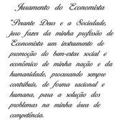 Decalque para Porcelana - Juramento do Economista