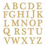 Decalque para Porcelana -Letras em Ouro