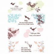 Decalque para Porcelana - Mãe Birds