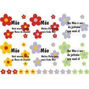 Decalque para Porcelana - Mãe Flores