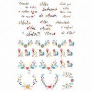 Decalque para Porcelana - Mãe Guirlanda Colors
