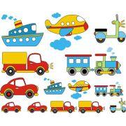 Decalque para Porcelana - Meios de Transporte
