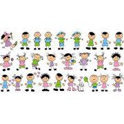 Decalque para Porcelana - Meninos e Meninas Felizes 3cm