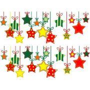 Decalque para Porcelana - Cordão de Estrelas
