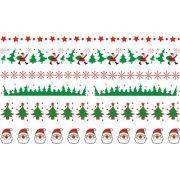 Decalque para Porcelana - Natal Faixinhas