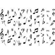 Decalque para Porcelana - Notas Musicais Faixa