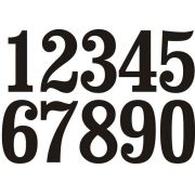 Decalque para Porcelana -Números 7cm