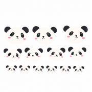 Decalque para Porcelana - Pandas Rosto