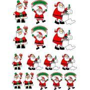 Decalque para Porcelana - Papai Noel Alegria