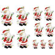 Decalque para Porcelana - Papai Noel Conferindo a Lista