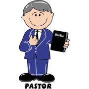Decalque para Porcelana - Pastor Grisalho