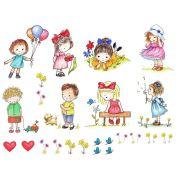 Decalque para Porcelana - Pequenas Garotas