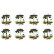 Decalque para Porcelana -Pinheiro Barco 4,5 cm